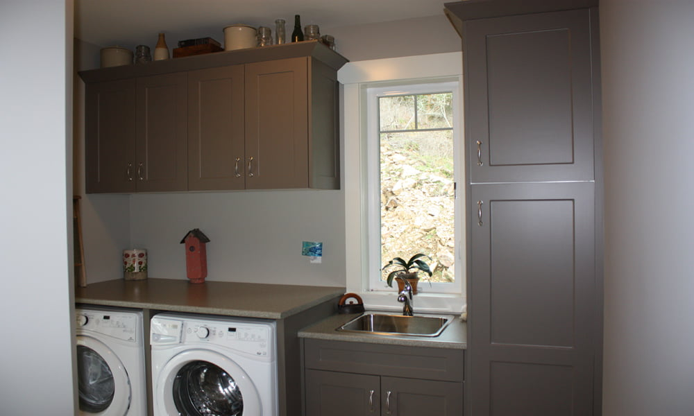 Laundry Room with Bespoke Cabinetry