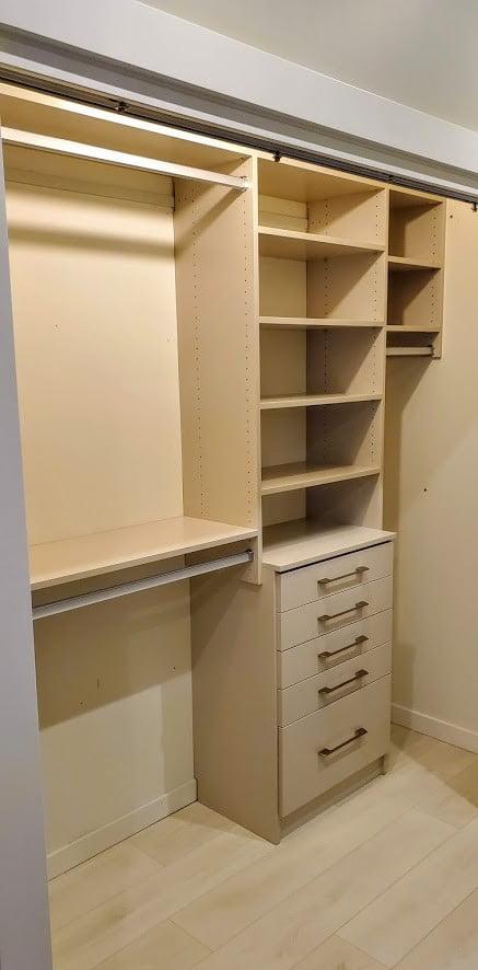 Built-in closets, Lake Cowichan